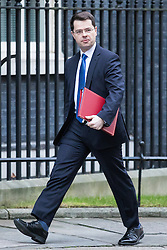 © Licensed to London News Pictures. 10/01/2017. London, UK. Secretary of State for Northern Ireland James Brokenshire arrives on Downing Street ahead of the weekly Cabinet meeting. Photo credit: Rob Pinney/LNP
