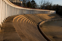 The Colonnades on the Grounds of the University of Virginia in Charlottesville, VA on February 16, 2008.  Founded in 1819 by Thomas Jefferson, UVA is one of the nation's top universities.  The Colonnades surrounding Lambeth Field were the home to the Virginia Cavaliers football team until 1931 when the team moved to Scott Stadium.