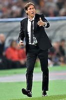 Uefa Champions League-2014-2015 / Group E / <br /> As Roma vs Fc Bayern Munich 1-7  ( Olympic Stadium, Roma - Italy ) <br /> Rudi Garcia - Coach of As Roma , Gesture during the match between As Roma and Fc Bayern Munich