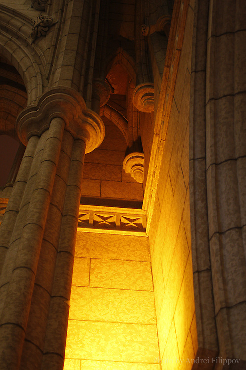 Architectural detail inside the Parliament Building in Ottawa, Ontario, Canada on February 22, 2009.