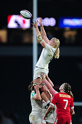 Tamara Taylor of England wins the ball at a lineout - Mandatory byline: Patrick Khachfe/JMP - 07966 386802 - 26/11/2016 - RUGBY UNION - Twickenham Stadium - London, England - England Women v Canada Women - Old Mutual Wealth Series.