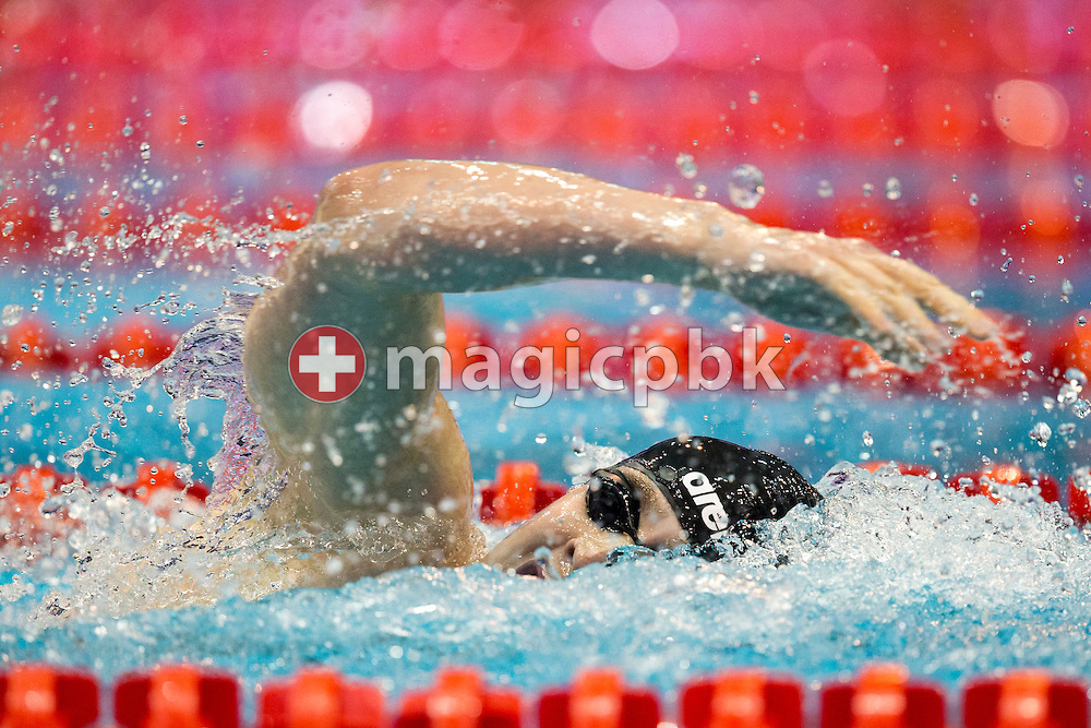 Peter BERNEK of Hungary on his way winning in the men's 400m Freestyle Final during the 18th LEN European Short Course Swimming Championships held at the Wingate Institute in Netanya, Israel, Wednesday, Dec. 2, 2015. (Photo by Patrick B. Kraemer / MAGICPBK)
