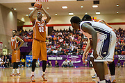 FORT WORTH, TX - JANUARY 19: Myles Turner #52 of the Texas Longhorns shoots a free-throw against the TCU Horned Frogs on January 19, 2015 at Wilkerson-Greines AC in Fort Worth, Texas.  (Photo by Cooper Neill/Getty Images) *** Local Caption *** Myles Turner