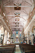 Interior of the Santa Cruz Cathedral in Fort Kochi in Kerala, India.