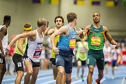 New Balance Indoor Grand Prix track & field, Mens 4x800 meter relay, Andrews to Rutt,  Solomon to Sowinski