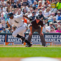 Chicago, IL - June 05, 2011:  Juan Pierre (1) runs the bases against the Detroit Tigers at U.S. Cellular Field on June 5, 2011 in Chicago, IL.