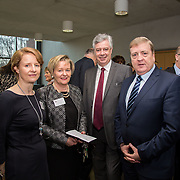 20.01.17<br /> Minister of State for Employment and Small Business, Deputy Pat Breen addressed a seminar for SMEs on The Role of Education in Supporting Small Business at University of Limerick.<br /> <br /> Pictured at the event were, Dr. Ann Ledwith, UL, Yvonne Delaney, UL, Dr. Philip O'Regan, Dean Kemmy Business School UL and Minister of State for Employment and Small Business, Deputy Pat Breen.<br /> <br />  Jointly hosted by the Kemmy Business school and the faculty of Science and Engineering, the event brought together small and medium enterprises along with representative bodies, Local Enterprise Offices, Chambers of Commerce, Irish Small and Medium Enterprises association (ISME), Enterprise Ireland and the IDA. The aim of the event was to stimulate greater collaboration between third level institutes and SMEs in relation to research, education and business advice. To date, University of Limerick and Limerick Institute of Technology have supported a number of start-ups through the Nexus Innovation Centre and LIT's Enterprise Centres while academic staff have provided expert advice to local companies. Picture: Alan Place