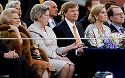 59604338  .Dutch King Willem-Alexander (3rd R), Queen Maxima (2nd R) and Princess Beatrix (1st L) attend the annual concert marking the Liberation Day, Amsterdam, Netherlands, May 05, 2013. Photo by: i-Images.UK ONLY