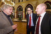 Vienna, Austria. Cocktail reception hosted by Mayor Michael Häupl at City Hall for international scientists and researchers living and working in Vienna.<br /> Mag. Robert Kogler (m.)