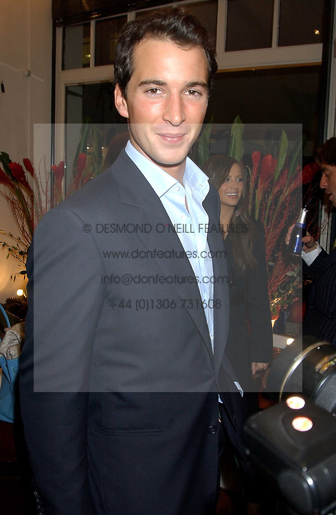 The HON.WILL ASTOR at a party to launch a new stor for tailors Pogson & Davis in Davies Street, London W1 on 15th December 2005.<br /><br /><br />NON EXCLUSIVE - WORLD RIGHTS