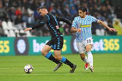 """Foto LaPresse/Filippo Rubin<br /> 12/05/2019 Ferrara (Italia)<br /> Sport Calcio<br /> Spal - Napoli - Campionato di calcio Serie A 2018/2019 - Stadio """"Paolo Mazza""""<br /> Nella foto: FABIAN RUIZ (NAPOLI) VS SERGIO FLOCCARI (SPAL)<br /> <br /> Photo LaPresse/Filippo Rubin<br /> May 12, 2019 Ferrara (Italy)<br /> Sport Soccer<br /> Spal vs Napoli - Italian Football Championship League A 2018/2019 - """"Paolo Mazza"""" Stadium <br /> In the pic: FABIAN RUIZ (NAPOLI) VS SERGIO FLOCCARI (SPAL)"""