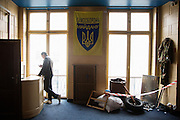 Ukrainski Swiat (Ukrainian World) museum and community center. An installation of replica artifacts from the Maidan.
