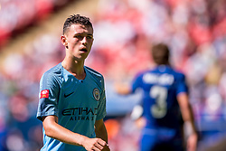 August 5, 2018 - Phil Foden of Manchester City during the 2018 FA Community Shield match between Chelsea and Manchester City at Wembley Stadium, London, England on 5 August 2018. (Credit Image: © AFP7 via ZUMA Wire)
