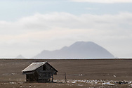An old shed weathers another winter near Bear Butte outside Sturgis, South Dakota, on Friday, Jan. 12, 2018.