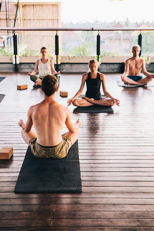 Yoga session at Roam community, Ubud. A global network of communal living spaces.