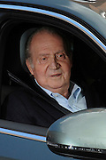 """09.MARCH.2013. MADRID<br /> SPANISH KING JUAN CARLOS LEFT THE HOSPITAL WHERE HE UNDERWENT A BACK HERNIA OPERATION SIX DAYS AGO AND WILL CONTINUE HIS REHABILITATION AT THE ZARZUELA PALACE, HIS OFFICIAL RESIDENCE.THE HEAD OF STATE TOLD REPORTERS SATURDAY UPON DEPARTING LA MILAGROSA HOSPITAL IN THIS CAPITAL THAT """"THANK GOD, I'M VERY WELL. MY BACK DOESN'T HURT OR ANYTHING.""""THE KING HAD PREVIOUSLY BID FAREWELL TO THE NEUROSURGEON WHO PERFORMED THE OPERATION, DR. MANUEL DE LA TORRE, AND THE REST OF THE MEDICAL TEAM AND ADMINISTRATIVE STAFF THAT ATTENDED TO HIM.JUAN CARLOS STILL MUST UNDERGO REHABILITATION FOR UP TO SIX MONTHS AND WILL NOT TRAVEL DURING THAT TIME, ALTHOUGH HE IS SCHEDULED TO RESUME HIS DUTIES AT THE ZARZUELA PALACE.HE WAS HOSPITALIZED LAST SUNDAY AND UNDERWENT A THREE-HOUR OPERATION UNDER GENERAL ANESTHESIA FOR HERNIATED DISCS IN THE LUMBOSACRAL REGION OF HIS SPINE.<br /> <br /> BYLINE: EDBIMAGEARCHIVE.CO.UK<br /> <br /> *THIS IMAGE IS STRICTLY FOR UK NEWSPAPERS AND MAGAZINES ONLY*<br /> *FOR WORLD WIDE SALES AND WEB USE PLEASE CONTACT EDBIMAGEARCHIVE - 0208 954 5968*"""