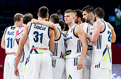 Players of Slovenia after winning during basketball match between National Teams of Slovenia and Ukraine at Day 10 in Round of 16 of the FIBA EuroBasket 2017 at Sinan Erdem Dome in Istanbul, Turkey on September 9, 2017. Photo by Vid Ponikvar / Sportida