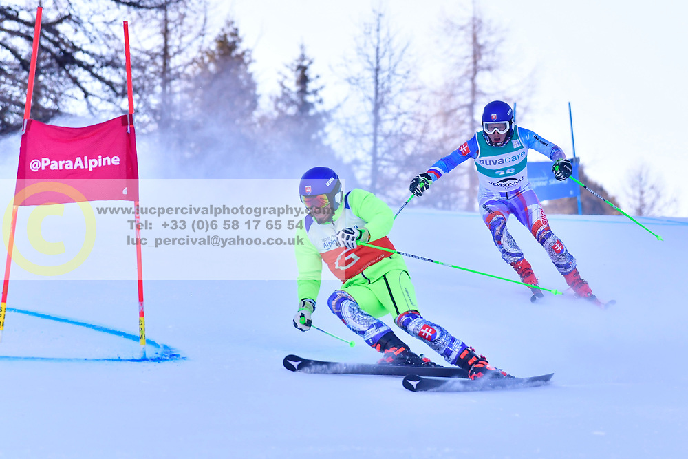 HARAUS Miroslav, Guide HUDIK Maros, B2, SVK at the World ParaAlpine World Cup Veysonnaz, Switzerland