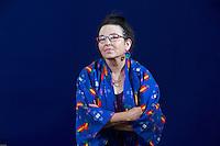 Edinburgh International Book Festival 2013 portait of Melinda Gebbie at Charlotte Square Garden <br /> <br /> Pic by Pako Mera