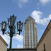 Top of the Miami-Dade County Courthouse, formerly known as the Dade County Courthouse, is a historic courthouse located at 73 West Flagler Street in Miami, Florida. Constructed between 1925 and 1928, it was added to the U.S. National Register of Historic Places on January 4, 1989. <br /> Photography by Jose More