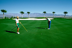 Sports: Golf: Southern CA desert, Ram's Hill Resort, model released, Borrego Springs; California; Rams Hill Country Club .Photo Copyright: Lee Foster, lee@fostertravel.com, www.fostertravel.com,  (510) 549-2202.Image sports211