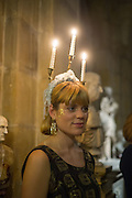 RACHEL-SCOFIELD-COHEN, Ball at to celebrateBlanche Howard's 21st and  George Howard's 30th  birthday. Dress code: Black Tie with a touch of Surrealism. Castle Howard. Yorkshire. 14 November 2015