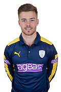 Hampshire wicket keeper-batsman Lewis McManus in the 2016 Royal London One Day Cup Shirt. Hampshire CCC Headshots 2016 at the Ageas Bowl, Southampton, United Kingdom on 7 April 2016. Photo by David Vokes.