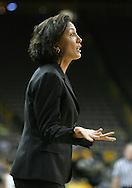 28 NOVEMBER 2007: Georgia Tech head coach MaChelle Joseph argues a call in the second half of Georgia Tech's 76-57 win over Iowa in the Big Ten/ACC Challenge at Carver-Hawkeye Arena in Iowa City, Iowa on November 28, 2007.