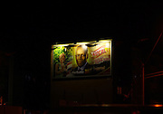 The image of José Eduardo dos Santos keeps in an outdoor in Luanda, while changes to a national beer advertising, on the 22 August 2012. The campaign has already started and the elections will take place on August 31