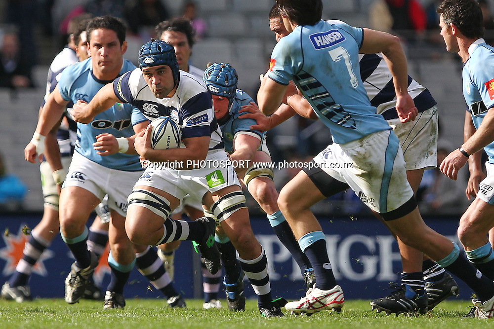 Auckland's Onosa'i Auva'a makes a break. ITM Cup rugby union match, Auckland v Northland at Eden Park, Auckland, New Zealand. Sunday 22nd August 2010. Photo: Anthony Au-Yeung/PHOTOSPORT