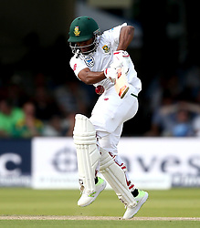 Temba Bavuma of South Africa hit by a Stuart Broad of England short ball - Mandatory by-line: Robbie Stephenson/JMP - 07/07/2017 - CRICKET - Lords - London, United Kingdom - England v South Africa - Investec Test Series