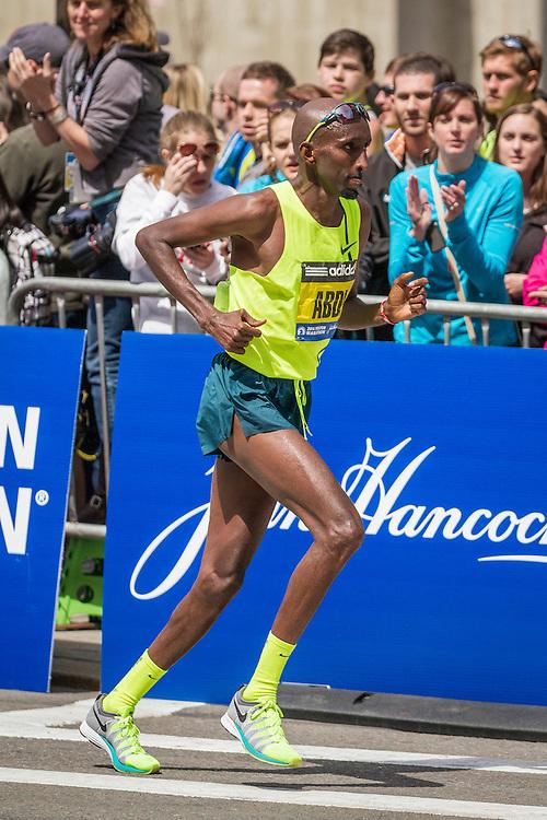2014 Boston Marathon: Abdi Abdirahmin, USA