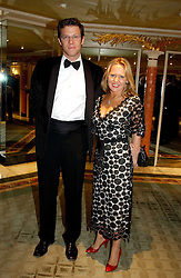 MISS ALICE BAMFORD and RICHARD MUIRHEAD at a ball to celebrate the 50th anniversary of the charity 'Samaritans' held at The Dorchester Hotel, Park lane, London W1 on 15th February 2005.<br />