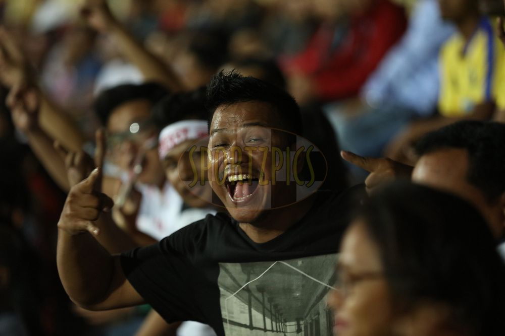 Fans during match 2 of the Hero Indian Super League between NorthEast United FC and Jamshedpur FC held at the Indira Gandhi Athletic Stadium, Guwahati India on the 18th November 2017<br /> <br /> Photo by: Saikat Das  / ISL / SPORTZPICS