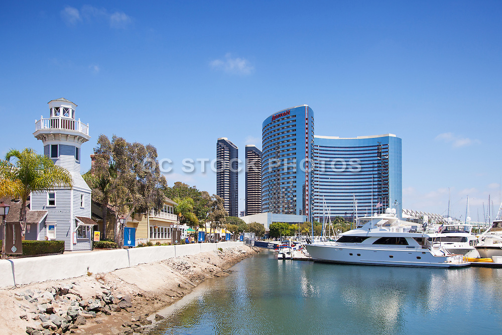 Embarcadero Marina and the Marriott Marquis