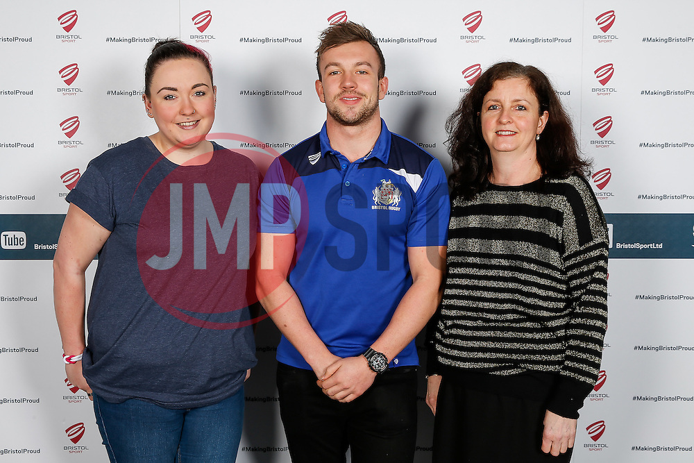 Andy Uren of Bristol Rugby poses during the Player Sponsors' Dinner in the Heineken Lounge at Ashton Gate - Mandatory byline: Rogan Thomson/JMP - 08/02/2016 - RUGBY UNION - Ashton Gate Stadium - Bristol, England - Bristol Rugby Player Sponsors' Dinner.