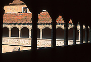 SPAIN, CASTILE and LEON Avila; Santo Tomas (St. Thomas) a  15th century Dominican Monastery;  the 'Silent Cloister'
