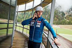 Klemen Kosi during official presentation of the outfits of the Slovenian Ski Teams before new season 2016/17, on October 18, 2016 in Planica, Slovenia. Photo by Vid Ponikvar / Sportida