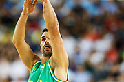 Kevin Lisch #11 of Australia shoots during the Australia v Philippines, 1st Round, Group B, Asian Qualifier at the Margaret Court Arena, Melbourne, Australia on 22 February 2018. Picture by Martin Keep.
