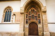Entrance to Saint Mark's Church in old town Gradec, Zagreb, Croatia