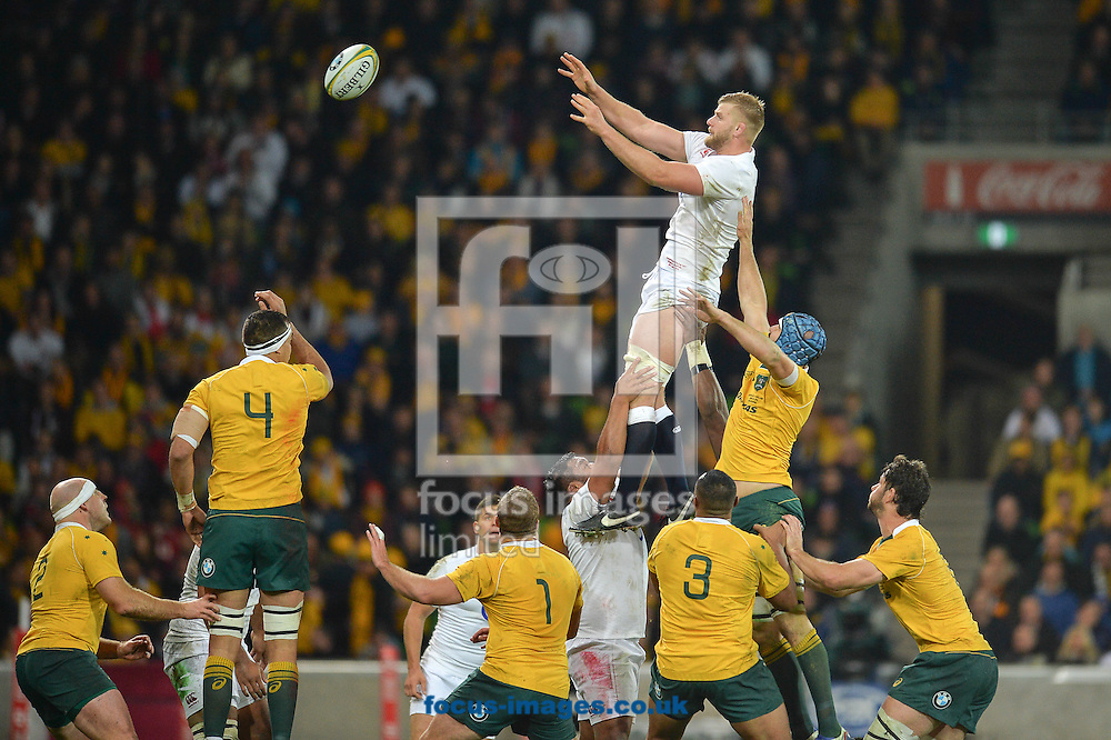 Geroge Kruise of England catches the ball during the International Test Match match at AAMI Stadium, Melbourne<br /> Picture by Frank Khamees/Focus Images Ltd +61 431 119 134<br /> 18/06/2016