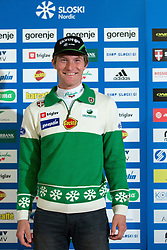 Domen Potocnik of nordic cross-country skiing team during Media day of Ski Association of Slovenia before new winter season 2014/15 on October 20, 2014 in Hisa Kulinarike Jezersek, Sora, Slovenia. (Photo by Matic Klansek Velej / Sportida)