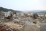 June 13, 2011; Kesennuma, Miyagi Pref., Japan - Over three months later, damage is still evident after the magnitude 9.0 Great East Japan Earthquake and Tsunami that devastated the Tohoku region of Japan on March 11, 2011.