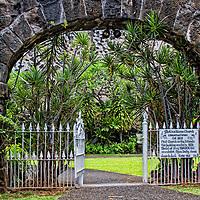 Mokuakaikaua Church, Kailua-Kona, Hawaii. Built in 1820, it is the oldest Christian church in Hawaii.