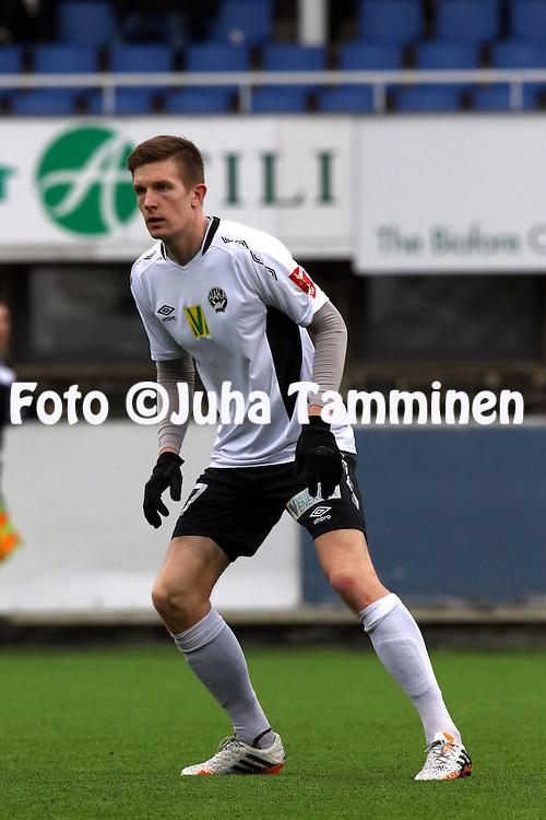 26.4.2015, Tehtaan kentt&auml;, Valkeakoski.<br /> Suomen Cup 2015, puoliv&auml;lier&auml;.<br /> FC Haka - Helsingin Jalkapalloklubi.<br /> Kalle Multanen - Haka