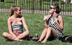 Sun worshippers enjoy the Indian summer in Green Park, London,  Monday, 2nd September 2013. Picture by Stephen Lock / i-Images