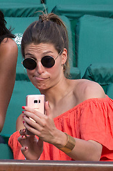 Laury Thilleman and friends in the stands during French Tennis Open at Roland-Garros arena on June 08, 2017 in Paris, France. Photo by Nasser Berzane/ABACAPRESS.COM  | 595870_050