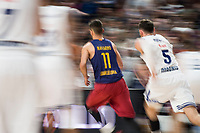 Real Madrid's Rudy Fernandez and FC Barcelona Lassa's Juan Carlos Navarro during Turkish Airlines Euroleague match between Real Madrid and FC Barcelona Lassa at Wizink Center in Madrid, Spain. March 22, 2017. (ALTERPHOTOS/BorjaB.Hojas)