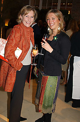 Left to right, LADY TOLLEMACHE and MISS KATHERINE PALMER-TOMKINSON  at a party to celebrate the publication of 'Last Voyage of The Valentina' by Santa Montefiore at Asprey, 169 New Bond Street, London W1 on 12th April 2005.<br />