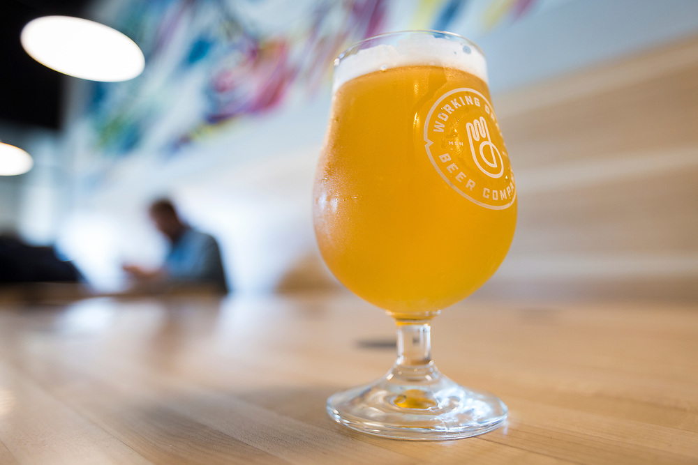 """The """"Close Enough to Perfect"""" Double IPA at Working Draft Beer Company in Madison, Wisconsin, Thursday, March 22, 2018."""